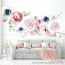 rose wall decals large flower set flower wall decal fl wall decal watercolor wall decals flower rose wall decals