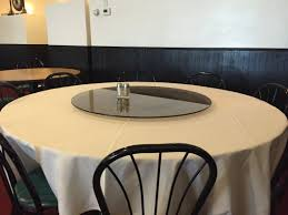 friends and pho the round table with lazy suzan is typical of authentic chinese restaurants