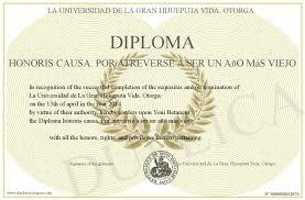 diploma honoris causa por atreverse a ser un ano mas viejo