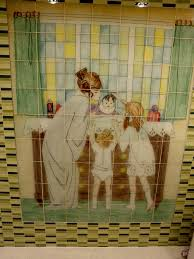 custom glass art tile mural