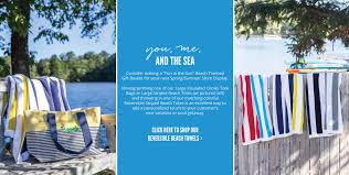 our reversible beach towels