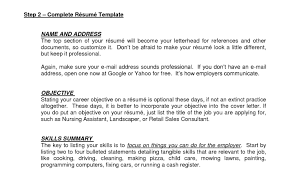 How To Write A Resume Example Resume Template