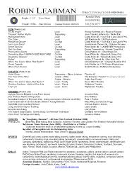 How To Make A Theater Resume Acting Resume Template Free How To