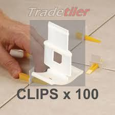 lash tile levelling clips bag of 100
