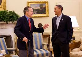 president in oval office. In This Next Image (below) We See President Obama Meeting The Oval Office With Former U.S. Presidents George Bush And Bill Clinton On January 16, 2010. 0