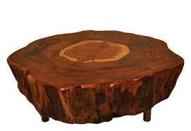 tree trunk coffee table tables throughout wood ideas 8