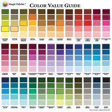 Artist Color Mixing Chart Magic Palette Artists Color Value Guide Color Mixing