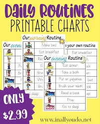 Daily Routine Printable Daily Routines Printable Charts In All You Do