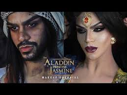 aladdin to princess jasmine makeup tutorial arabia felix you