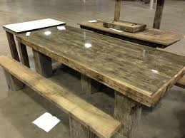 Wood Pallet Table Top Old Barn Wood Picnic Table Picnic Tables Pinterest Picnic