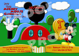 Mickey Mouse Clubhouse 2nd Birthday Invitations Fanci Prints By Tiffany Mickey Mouse Clubhouse Birthday