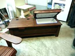 cooler table patio cooler table best of patio cooler plans for cooler coffee table combo wood cooler table