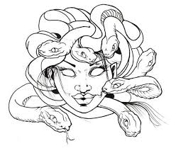 Small Picture Awesome Medusa Snake Hair Coloring Page NetArt