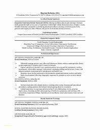 Dentist Resume Sample Resume Template Dental assistant and 60 Luxury Dentist Resume Sample 34