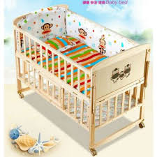 china good quality baby cot bed baby wooden swing