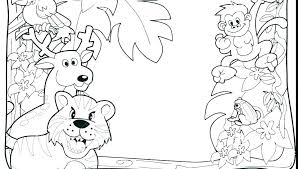 Cute Jungle Animal Coloring Pages Printable Animal Coloring Sheets