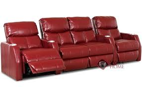 home theater loveseat. atlantis 4-seat leather reclining home theater seating with loveseat (straight)