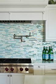 silver and blue mosaic kitchen backsplash tiles