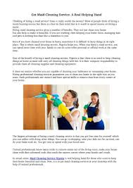 get maid cleaning service a real helping hand