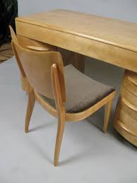 mid century modern vintage 1950s birch kneehole desk chair by heywood wakefield for