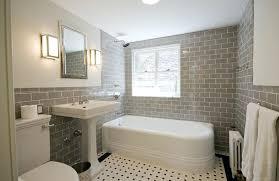 Traditional Bathroom With Corner Tub And Gray Tile Latest