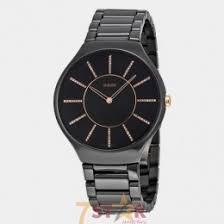 rado true thinline watch for men in black color total ceramic rado true thinline watch for men in black color total ceramic black diamond dial
