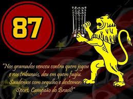 Resultado de imagem para SPORT RECIFE É DECLARADO CAMPEÃO DE 87