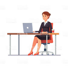 office furniture women. Illustration Of A Pregnant Office Worker Talking On The Vector Furniture Women