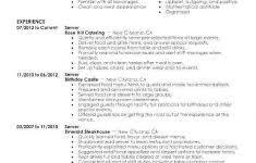 Waitress Job Description Resume Unique Head Waitress Job Description