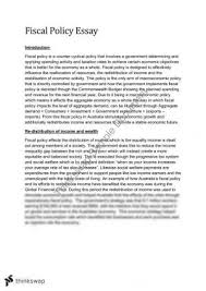 fiscal policy essay year hsc economics thinkswap essay on fiscal policy