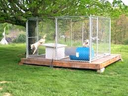 dog pen ideas diy outside kennel flooring