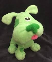 GREEN PUPPY Blues Clues Nickelodeon 2000 7 PLUSH RARE Viacom Nick