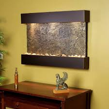 soothing indoor wall fountains horizontal fountain with bronze lines and lights