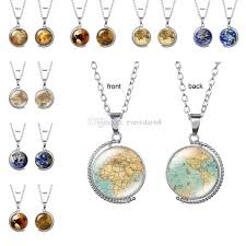 vintage rotating glass globe necklaces planet world map necklace art face glass round dome earth map pendant necklace nz 2019 from everyday68