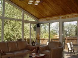 ... Terrific Home Interior Decoration Using Sunroom Paint Ideas : Chic Screened  Porch Decoration Using Cream Leather ...