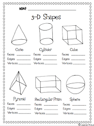 Solid Figures Faces Edges Vertices Chart 3 D Shapes Facts Worksheet Teaching Math Math School