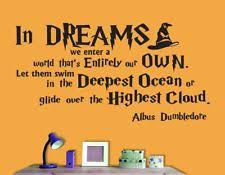 Dumbledore Quote Dreams Best of Pesonalised Your Social Media Icons Wall Decal Vinyl Art Stickers