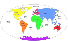 World Map And Continents Asocolpat Co