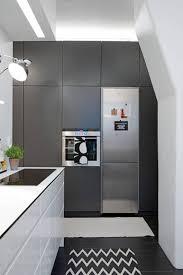 Kitchen Appliances Built In Built In Modern Kitchen Appliances In Dark Grey Cabinets Built