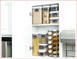 labeled containers kitchen cabinet organize cabinets lazy susan