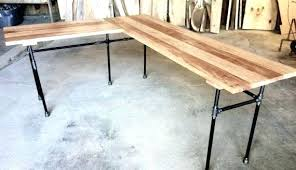 l shaped wood desk. Desk Wood L Shaped The Reclaimed Office Wooden Organizer O