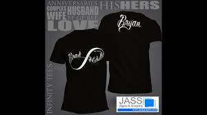 Couple Shirt Design Infinity Symbol Shirts For Couples Wedding Gift Or Anniversary Gift