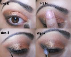 smokey eyes with graduating colors eye makeup tutorial
