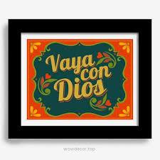 mexican kitchen spanish home decor art print decor vaya con