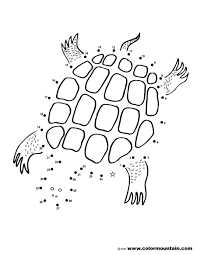 Small Picture Turtle Dot to Dot Coloring Page Create A Printout Or Activity