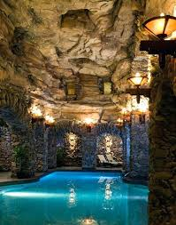 Pool Grotto With Slide Pools With Waterfalls And Slides And Caves