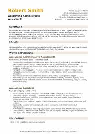 Example Of Executive Assistant Resumes Accounting Administrative Assistant Resume Samples Qwikresume