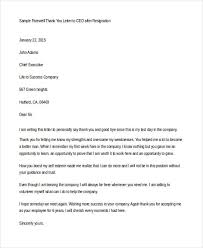 Thank You Letter To Boss After His Resignation Lezincdc Com