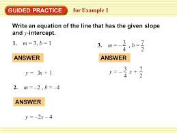 4 7 2 answer guided practice for example 1 write an equation of the line that has the given slope