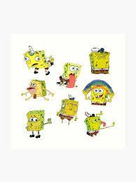 Spongebob Meme Sticker Set Art Print